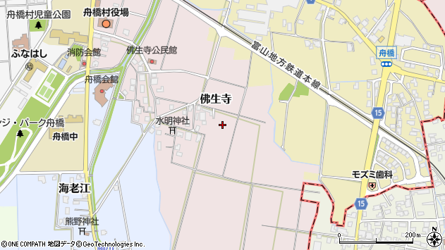 〒930-0282 富山県中新川郡舟橋村仏生寺の地図