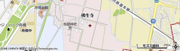 富山県舟橋村(中新川郡)佛生寺周辺の地図