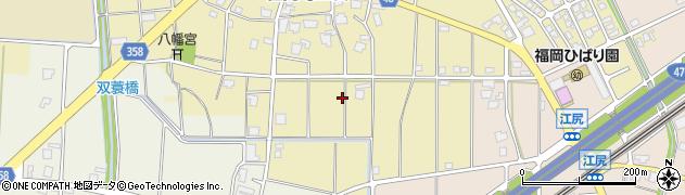 富山県高岡市福岡町上蓑周辺の地図