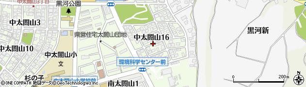 富山県射水市中太閤山16丁目周辺の地図
