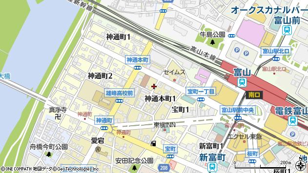 〒930-0008 富山県富山市神通本町の地図