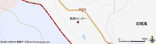 富山県小矢部市岩尾滝周辺の地図