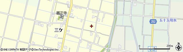 富山県高岡市三ケ周辺の地図