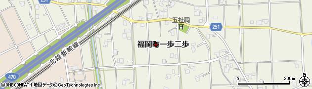 富山県高岡市福岡町一歩二歩周辺の地図