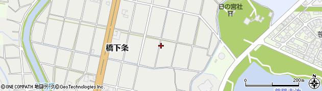 富山県射水市橋下条周辺の地図
