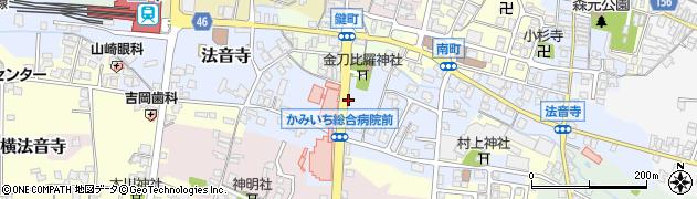 かみいち総合病院周辺の地図