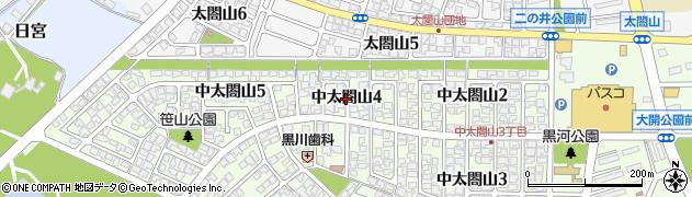 富山県射水市中太閤山4丁目周辺の地図