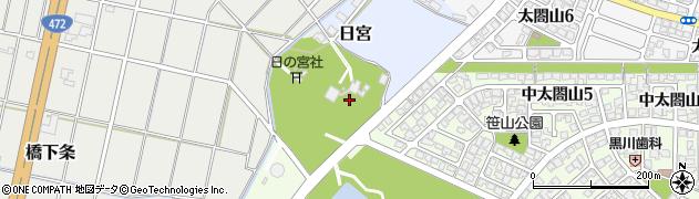 富山県射水市日宮周辺の地図
