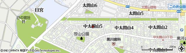 富山県射水市中太閤山5丁目周辺の地図