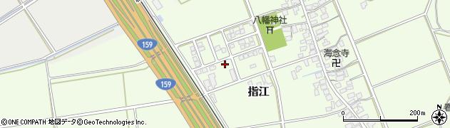 石川県かほく市指江ソ周辺の地図