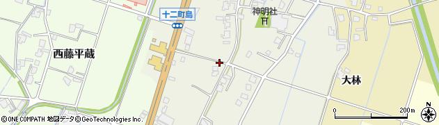 富山県高岡市十二町島周辺の地図