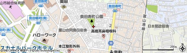 富山県富山市奥田寿町周辺の地図