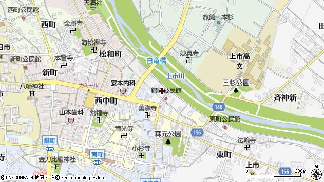 〒930-0341 富山県中新川郡上市町錦町の地図