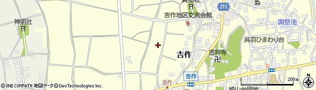 富山県富山市吉作周辺の地図