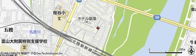 富山県富山市駒見周辺の地図