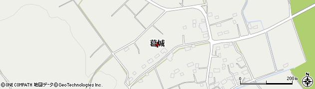 栃木県さくら市葛城周辺の地図