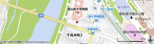 富山県富山市牛島本町周辺の地図