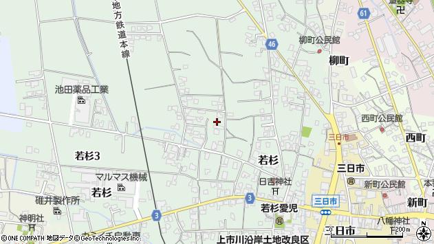 〒930-0314 富山県中新川郡上市町若杉の地図