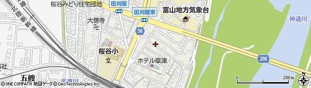 富山県富山市田刈屋新町周辺の地図