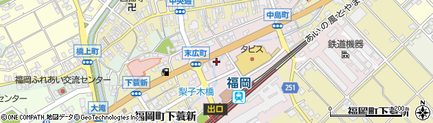 富山県高岡市福岡町末広町周辺の地図