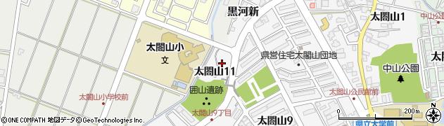 富山県射水市太閤山11丁目周辺の地図