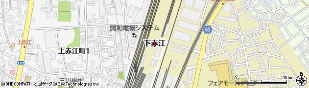 富山県富山市下赤江周辺の地図