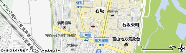 富山県富山市石坂周辺の地図