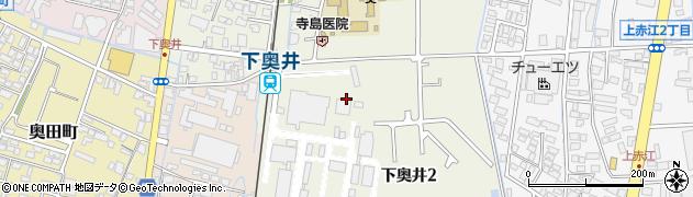 富山県富山市下奥井周辺の地図