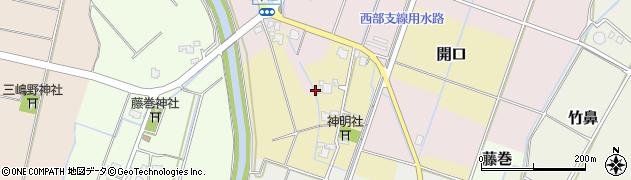 富山県射水市開口周辺の地図