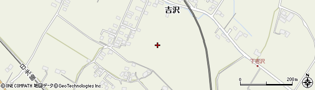 栃木県日光市吉沢周辺の地図