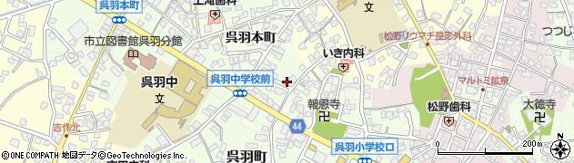 富山県富山市呉羽本町周辺の地図