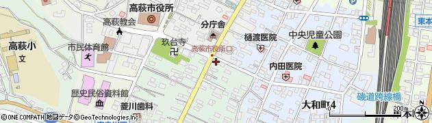 高萩停車場線周辺の地図