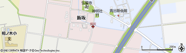 飯坂周辺の地図