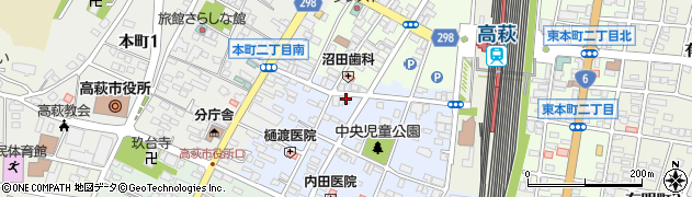 矢吹青果店周辺の地図