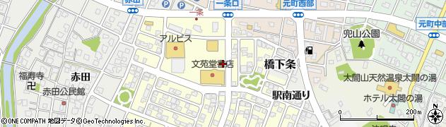 富山県射水市一条周辺の地図