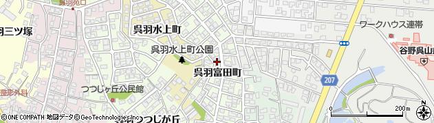 富山県富山市呉羽富田町周辺の地図