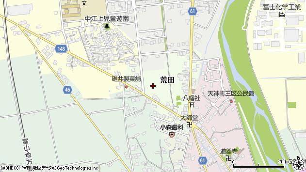 〒930-0305 富山県中新川郡上市町荒田の地図