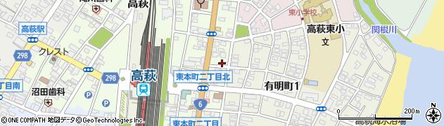 杉山理容室周辺の地図