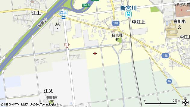 〒930-0313 富山県中新川郡上市町中江上の地図
