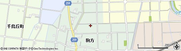 富山県高岡市駒方周辺の地図