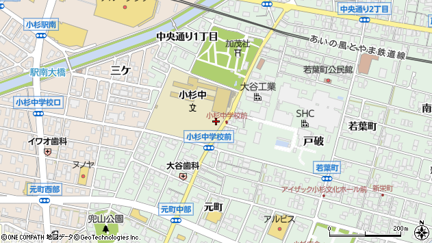 〒939-0351 富山県射水市戸破南通りの地図