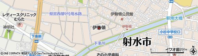富山県射水市三ケ(伊勢領)周辺の地図