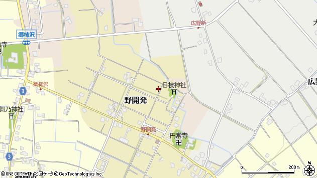 〒930-0403 富山県中新川郡上市町野開発の地図