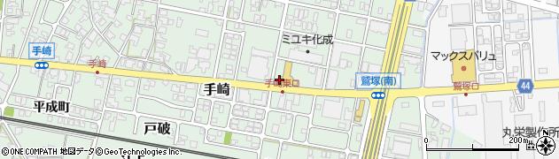 富山県射水市手崎周辺の地図