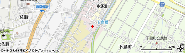 富山県高岡市若水町周辺の地図