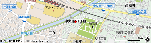 富山県射水市戸破(中央通り1丁目)周辺の地図