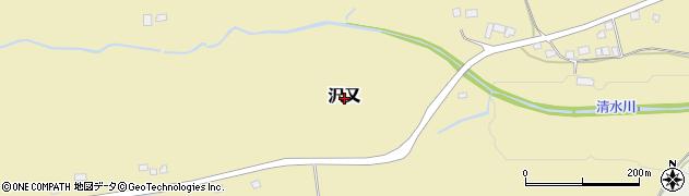 栃木県日光市沢又周辺の地図