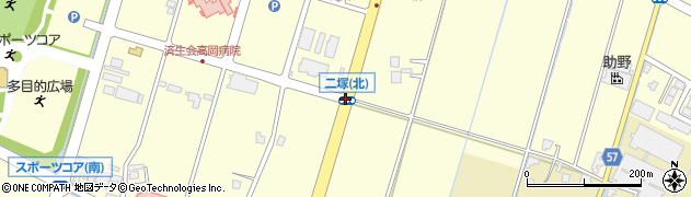二塚北周辺の地図