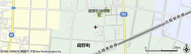 富山県高岡市蔵野町周辺の地図