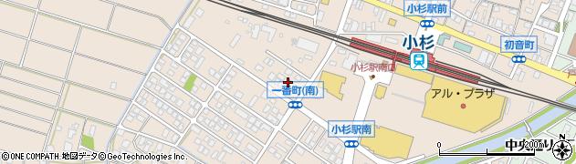 富山県射水市三ケ(一番町)周辺の地図